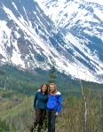 Two of our ecologists (Sarah Bisbing and Kristen Pelz) on the Cassiar Highway for a sampling trip. Sarah Bisbing, 2011.