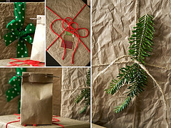 (Recycled) brown paper packages tied up with string...Photo by Chiot's Run