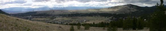 : Panorama of Rattlesnake Valley, Missoula Montana, showing the shift from wildlands (right) to the urban center (left).