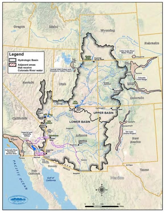 Colorado River Basin Study Figure 3: The Study Area