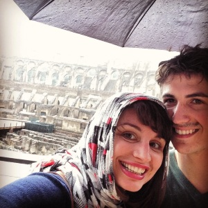 Andre and I, just visiting the #Colosseum in #Rome in the rain #nbd #postdoclife